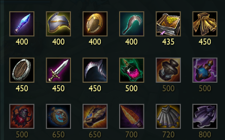 Items in League of Legends