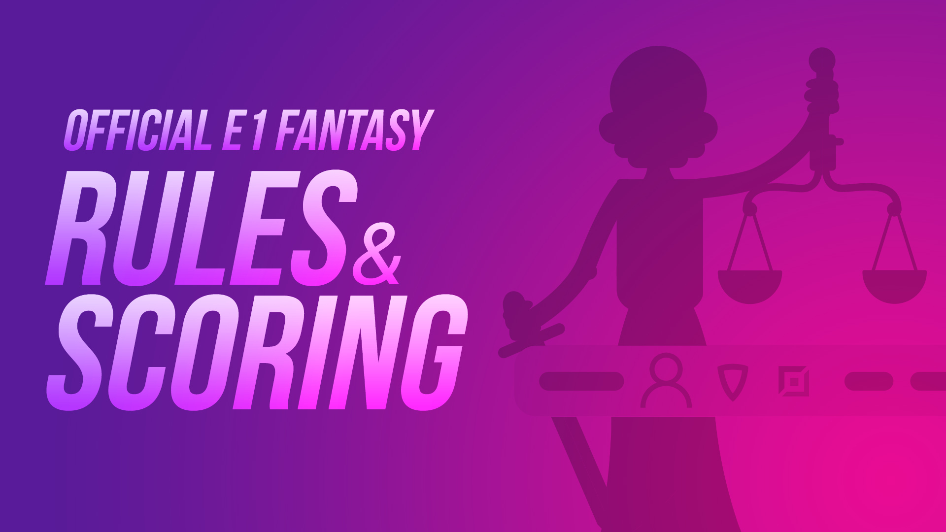 Official Fantasy Rules and Scoring